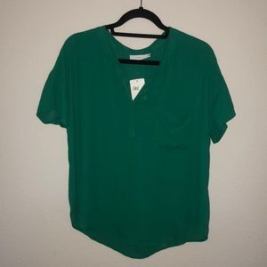 Green Business Casual Top